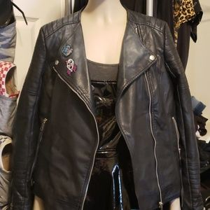 Women's Punk *Vegan* leather jacket.